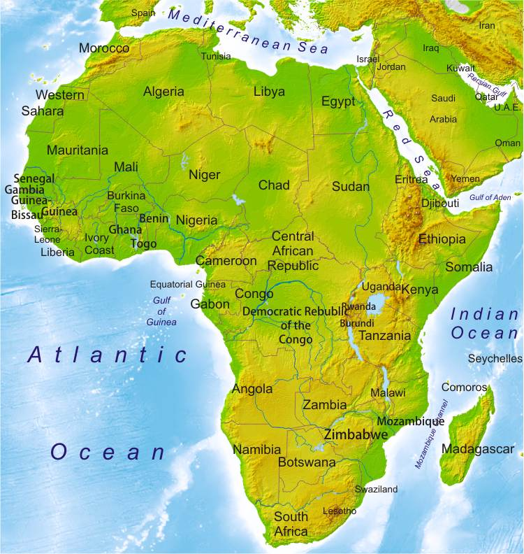 Physical map online world atlas blair 1 physical map of africa gumiabroncs