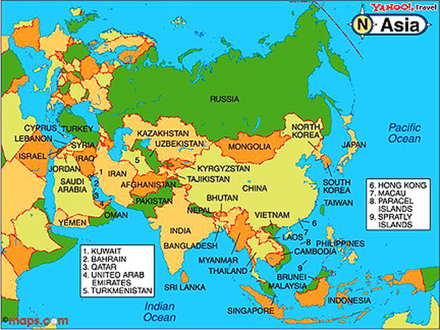 Political Map Online World Atlas Blair 1